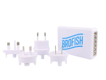 Picture of Brofish 6 poorts USB Lader Wit
